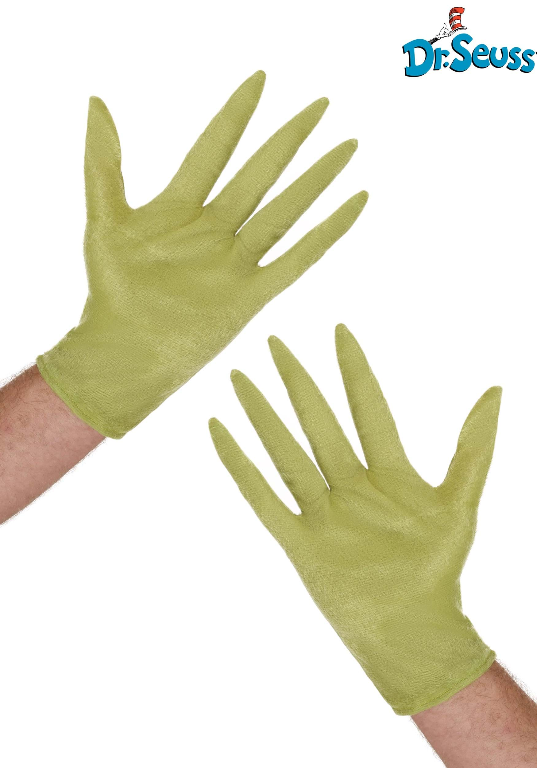 Dr Seuss Grinch Gloves For Adults