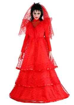 Women's Red Gothic Wedding Dress-update1