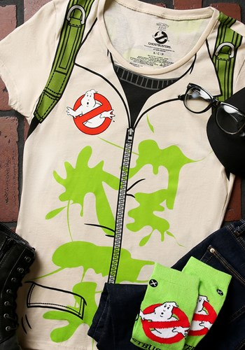 Slimed Ghostbusters Costume T Shirt for Women