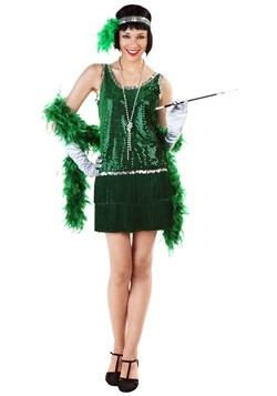 Vibrant Green Plus Size Flapper Dress cc