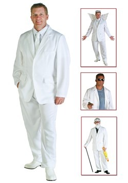 Plus Size White Suit Costume Update Main