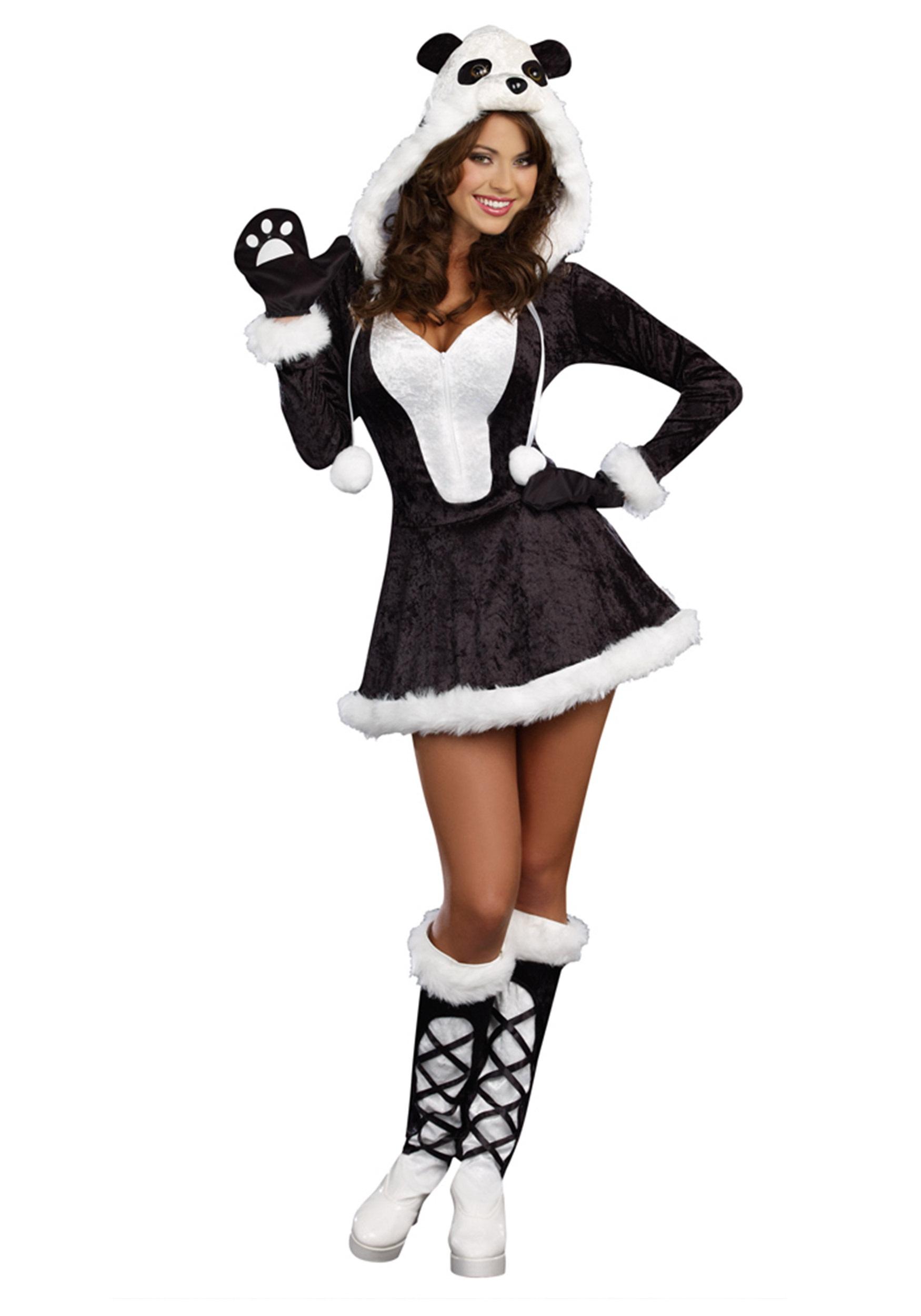 Panda bear baby costume for women
