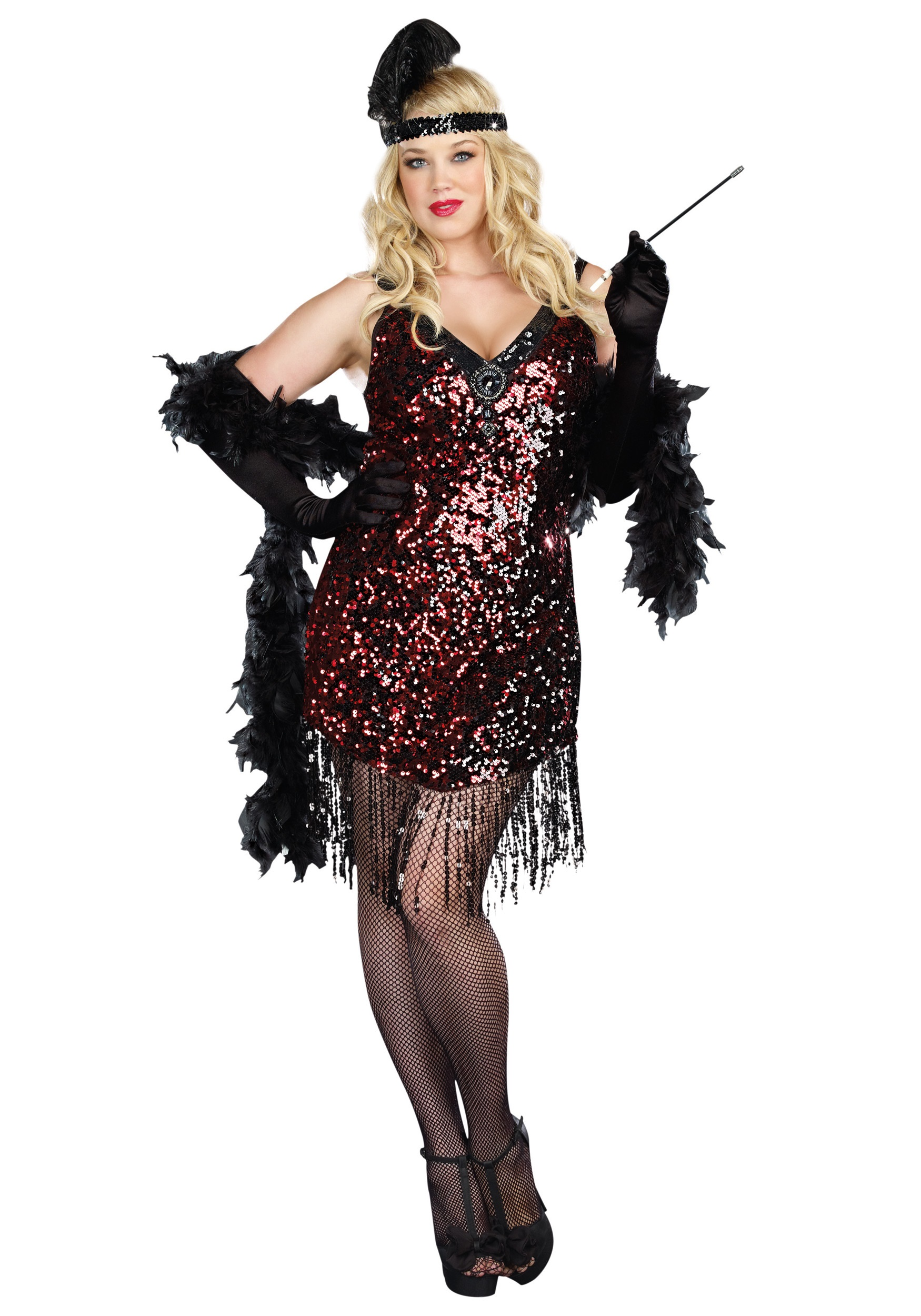 dames like us flapper costume for plus sizes
