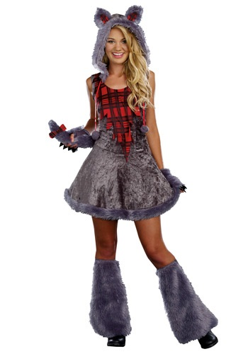Teen Full Moon Sassy Werewolf Costume