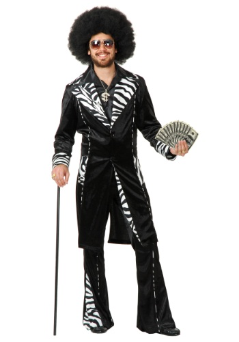Plus Size Adult Mac Daddy Pimp Costume