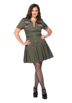 Plus Size Women's Top Gun Flight Dress