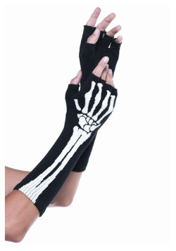 Skeleton Fingerless Women's Gloves