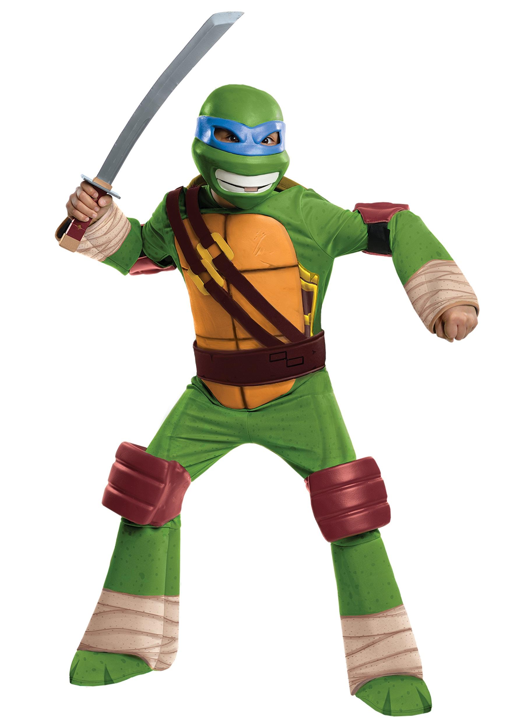 Ninja Toys For Girls : Deluxe tmnt leonardo costume for boys