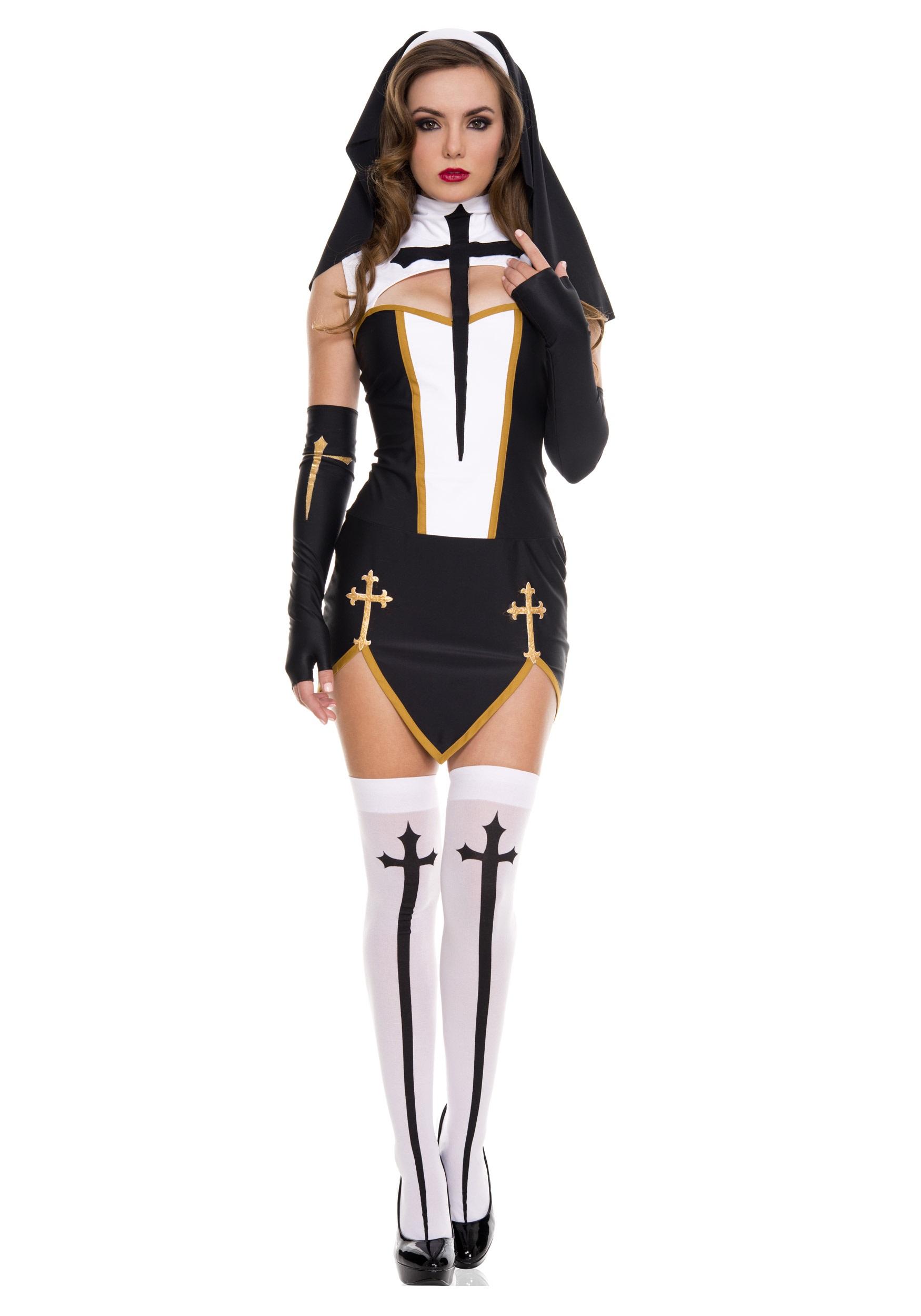 Bad Habit Nun Costume for Women