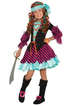 Girls Salty Taffy Pirate Costume