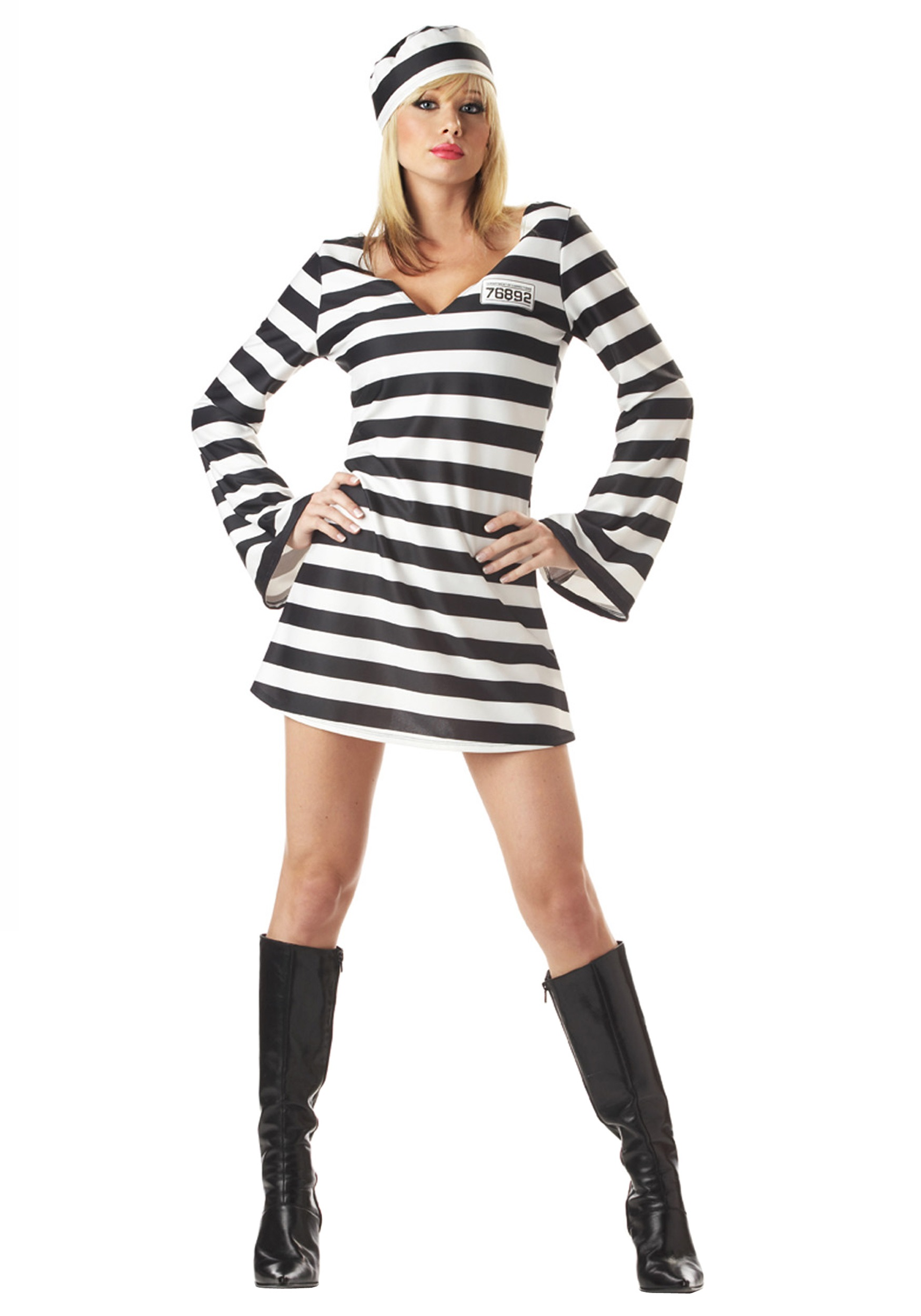 Womenu0027s Inmate Prisoner Costume  sc 1 st  Fun.com & Inmate Prisoner Costume for Women