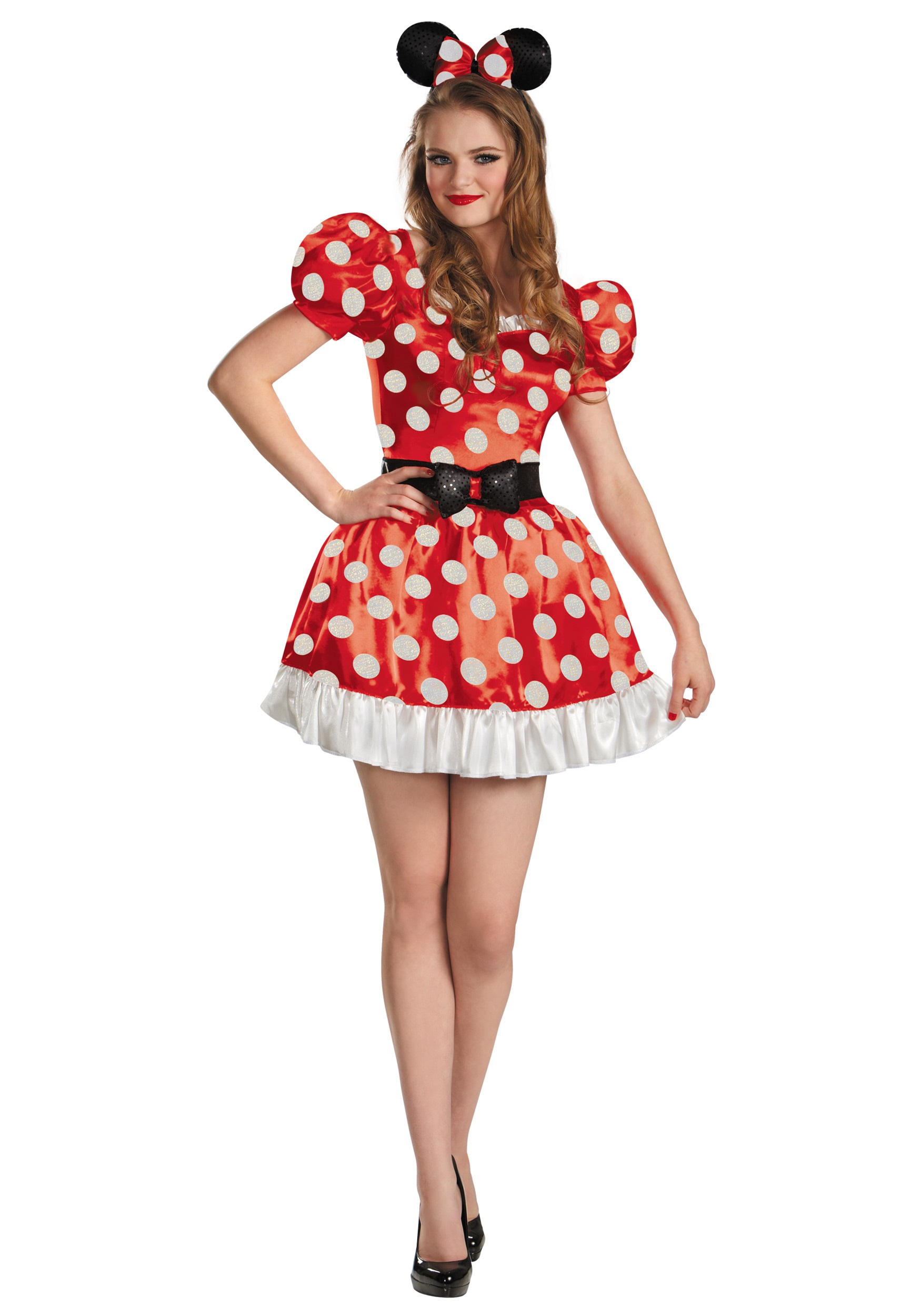 Classic Red Minnie Plus Size Costume for Women