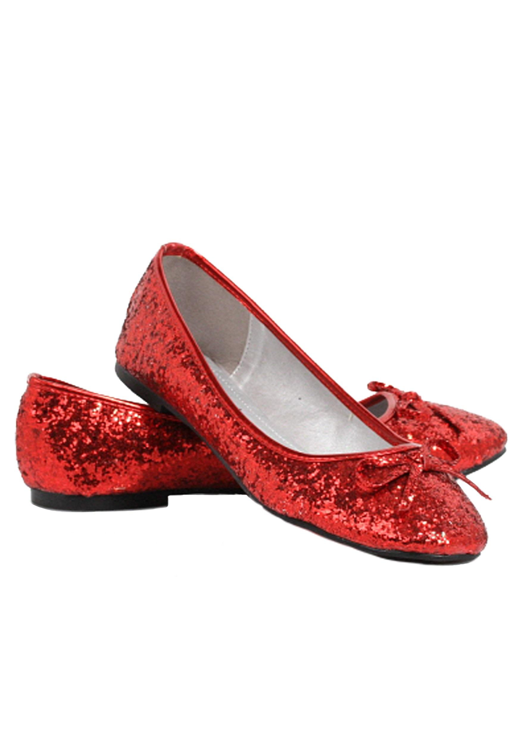 Red Glitter Flats | Red Sparkly Shoes