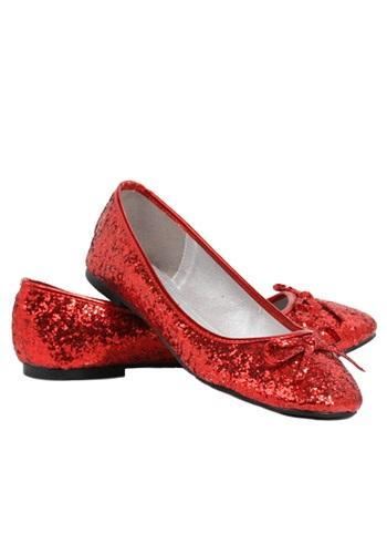 Women's Red Glitter Flats