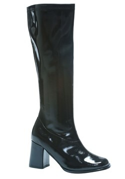 Adult Costume Black Gogo Boots Update Main