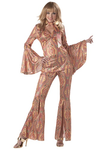 Womens 1970s Discolicious Costume