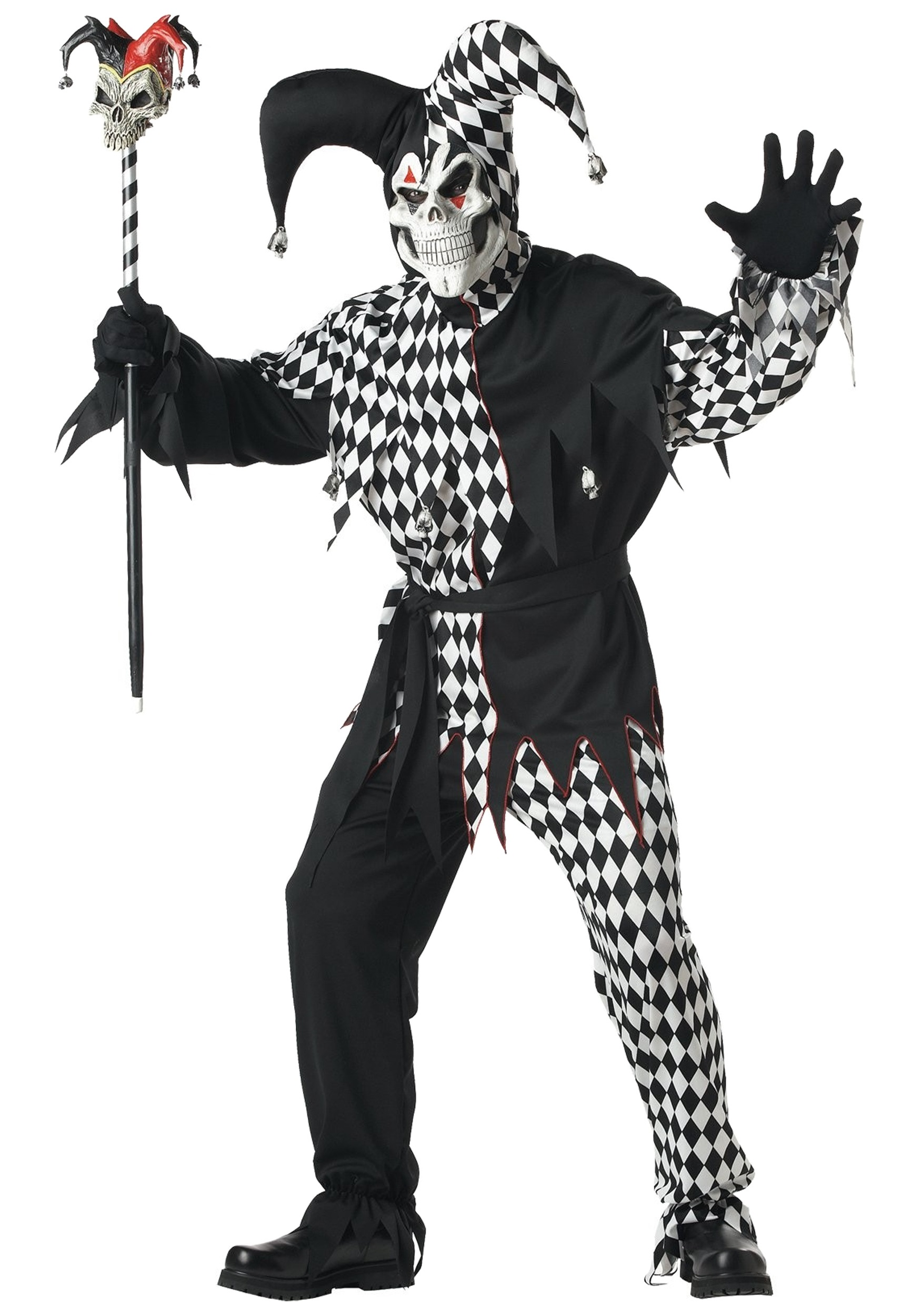 Dark jester costume for adults dark jester adult costume solutioingenieria Image collections