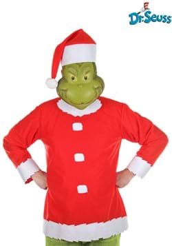 Adult Grinch Costume with Hat and Half Mask 1