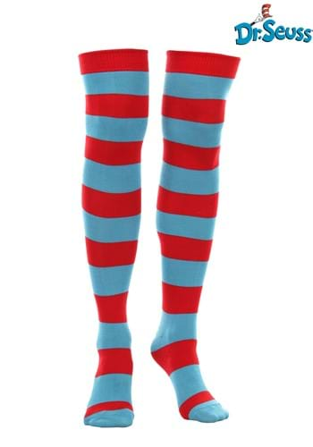 Thing 1 & Thing 2 Striped Knee High Socks for Women