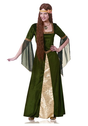 Green Renaissance Lady Costume For Women