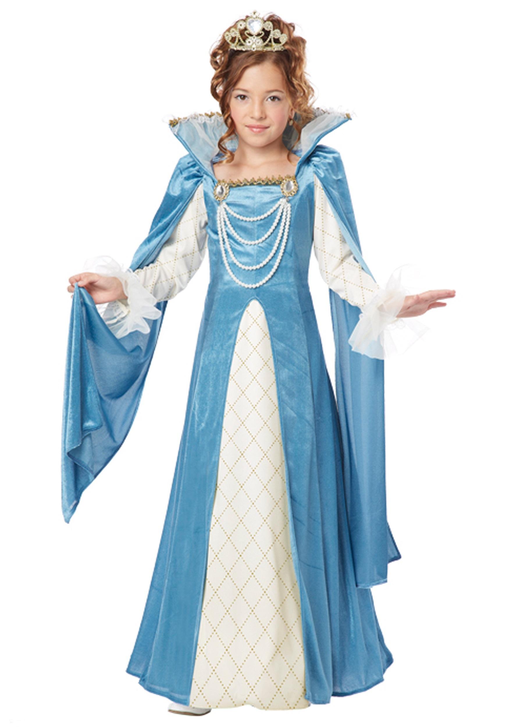Renaissance Queen Girls Costume  sc 1 st  Fun.com & Girlu0027s Renaissance Queen Costume