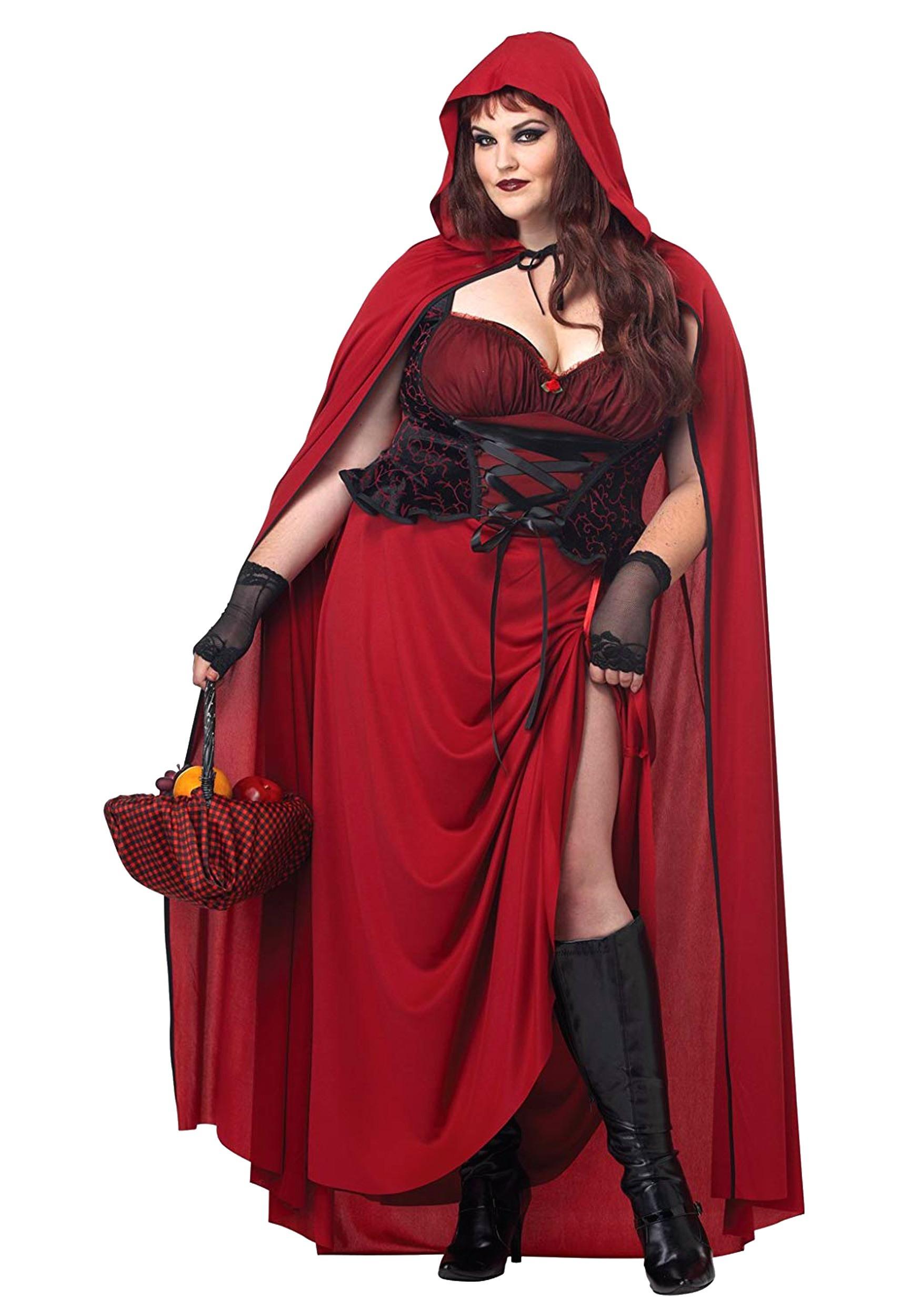 Dark Red Riding Hood Plus Size Women s Costume Update1 821856a091
