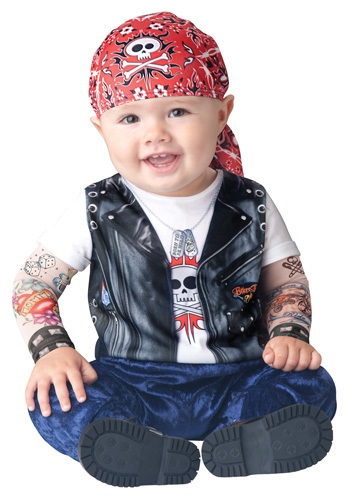 Born to be Wild Baby Biker Costume