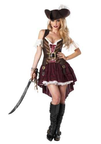 Women's Sexy Swashbuckler Captain Plus Size Costume-update1
