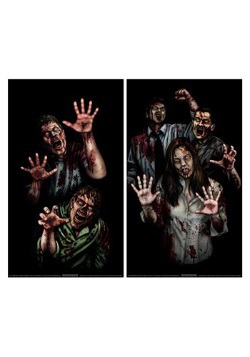 Halloween Decoration Zombie Asylum Window Cling