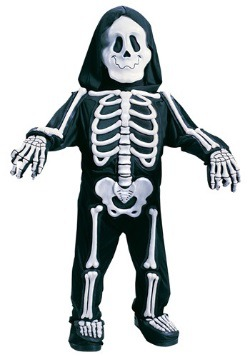 Child's White Skeleton Costume
