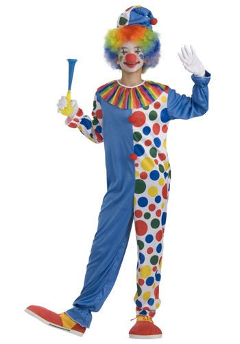 Big Top Teen Clown Costume