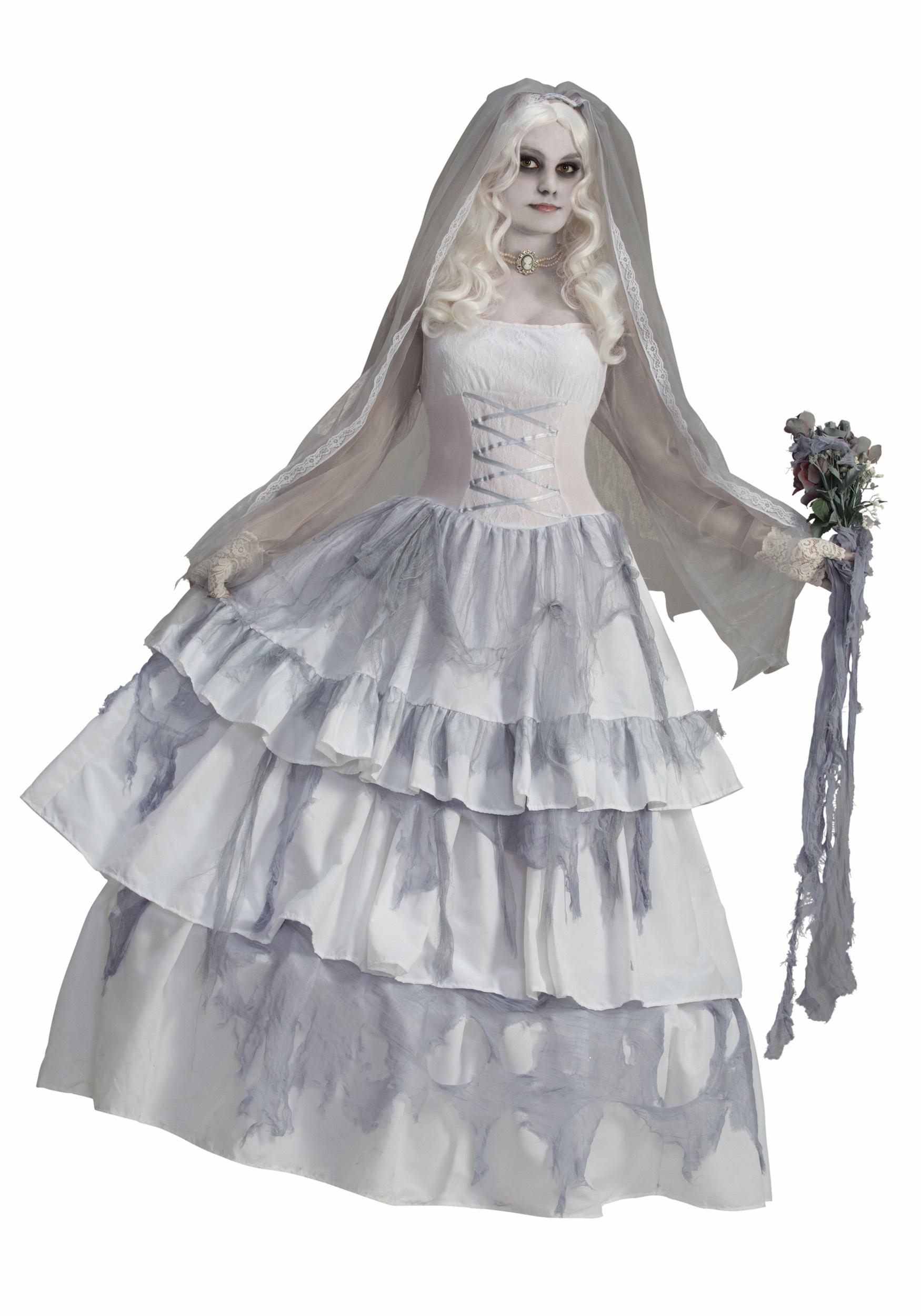 Women\'s Victorian Ghost Bride Costume