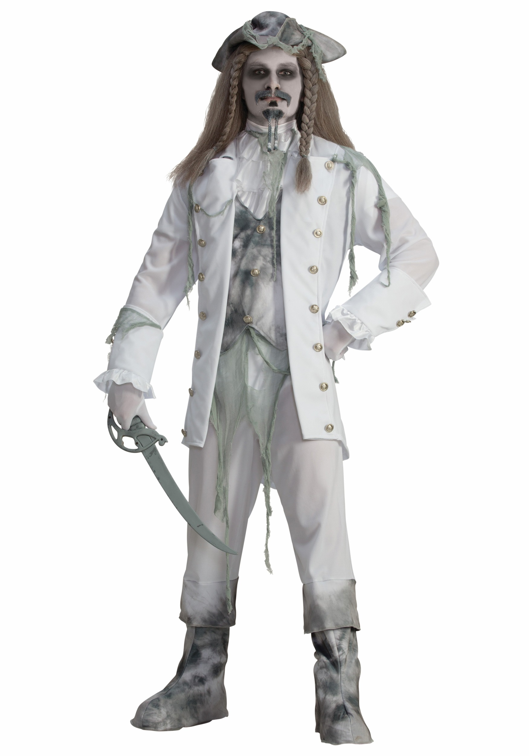 Mens Ghost Captain Pirate Costume  sc 1 st  Fun.com & Ghost Captain Pirate Mens Costume