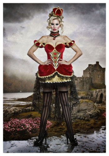Deluxe Queen of Hearts Costume For Adults