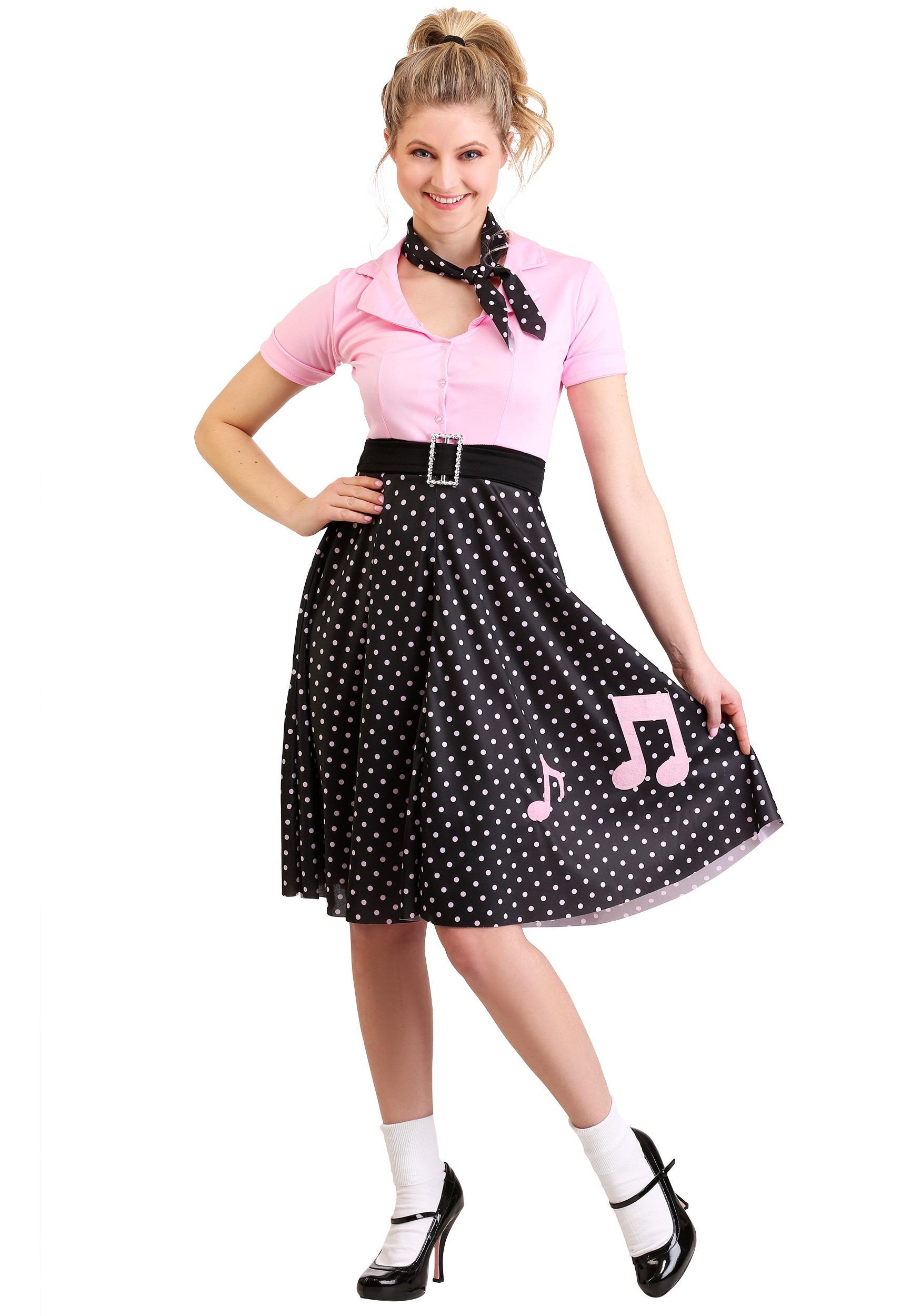 Women's Sock Hop Cutie Costume