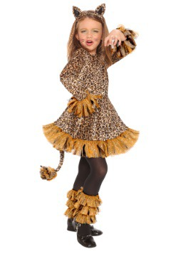 Girls Leopard Costume