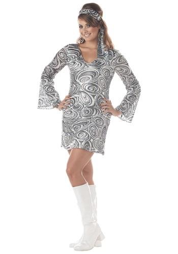 Women's Disco Diva Plus Size Dress Costume