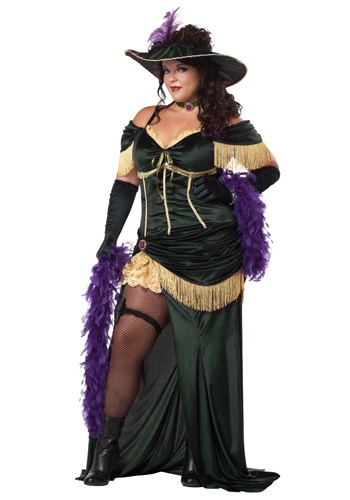 Womens Plus Size Saloon Madame Costume - from $59.99