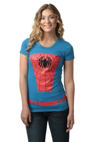 Womens Belted Spider-Man Costume TShirt MFA1498AAE1-L