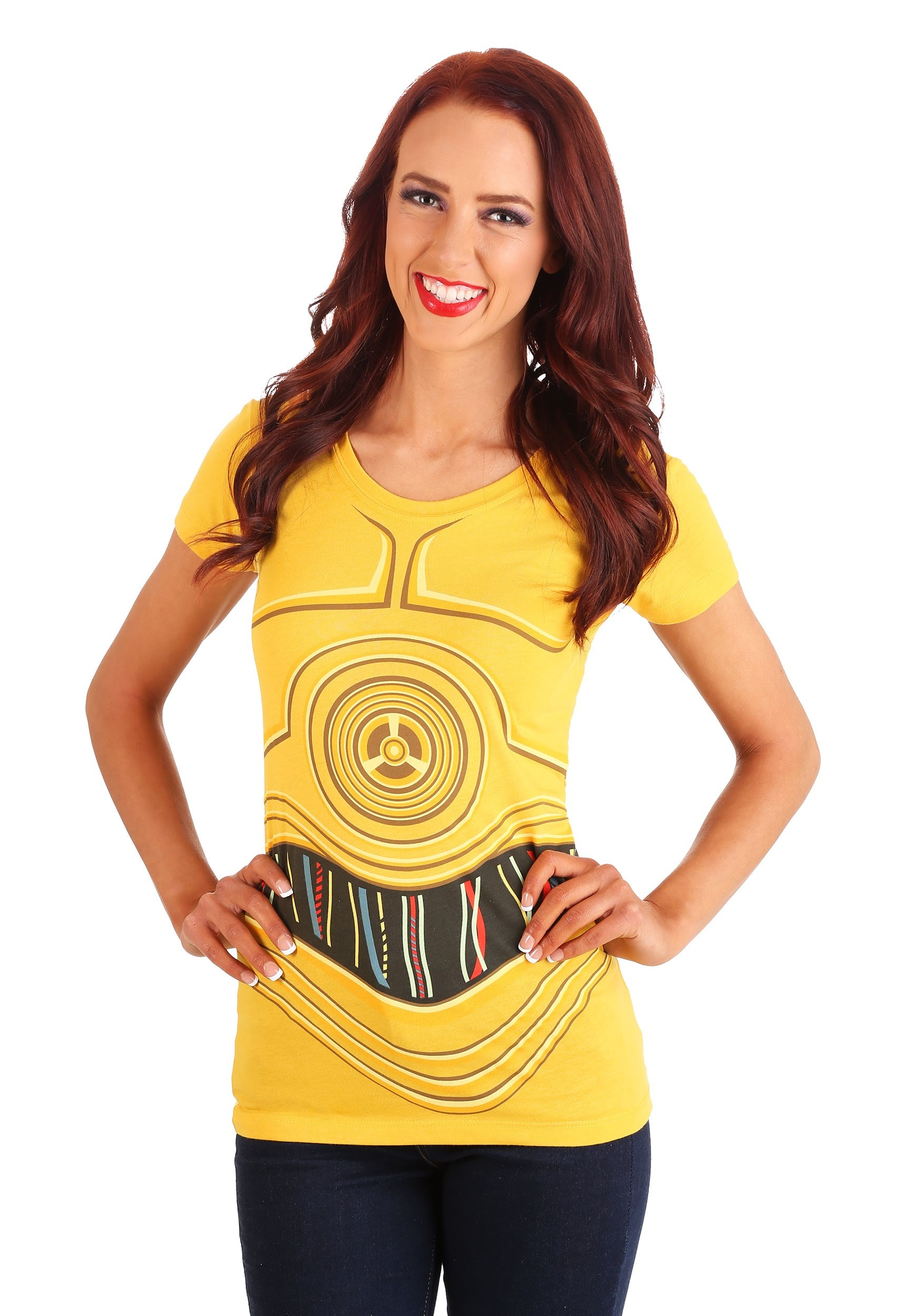 Womens star wars i am c3po costume t shirt for Costume t shirts online