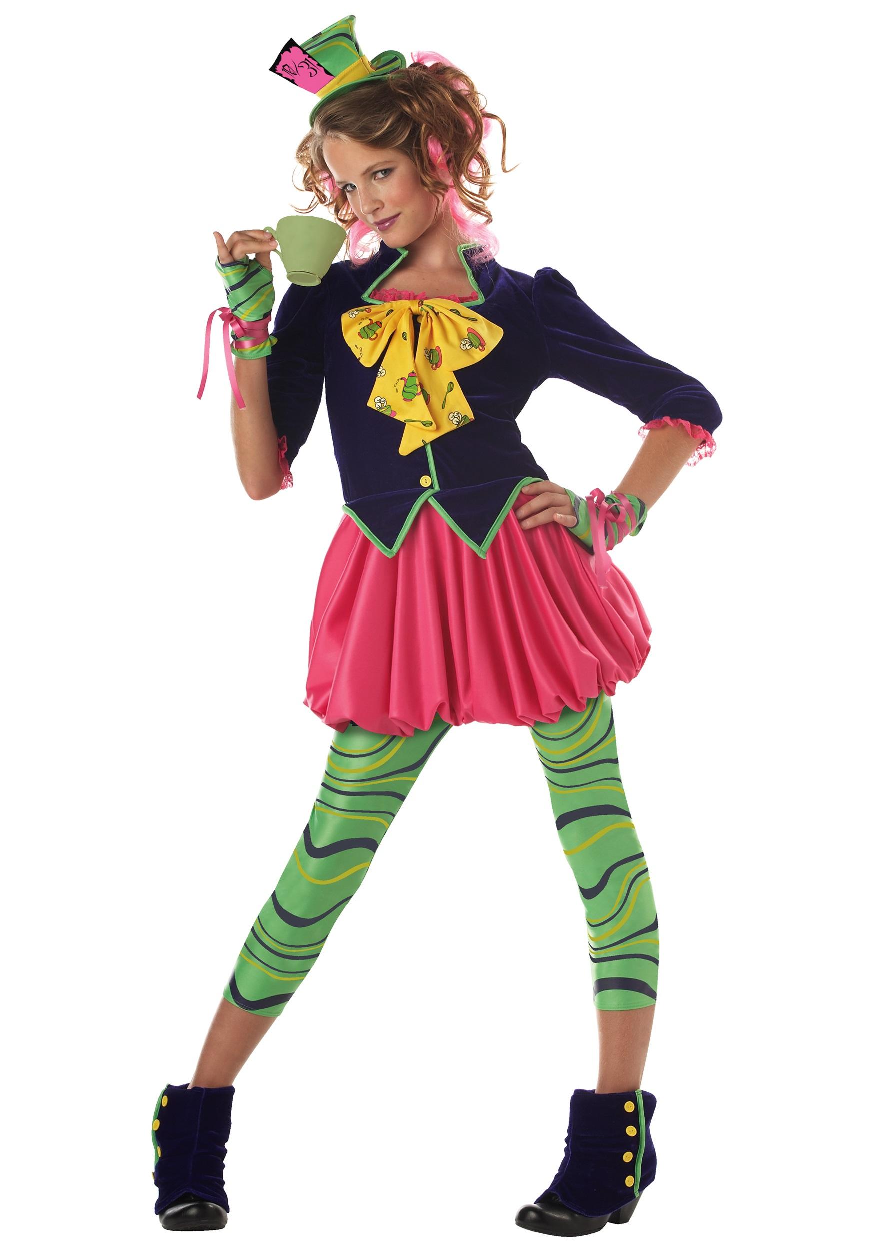 Tween Wonderland Miss Mad Hatter Costume  sc 1 st  Fun.com & Girls Tween Wonderland Miss Mad Hatter Costume