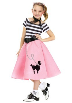 Poodle Skirt Dress Girls Costume
