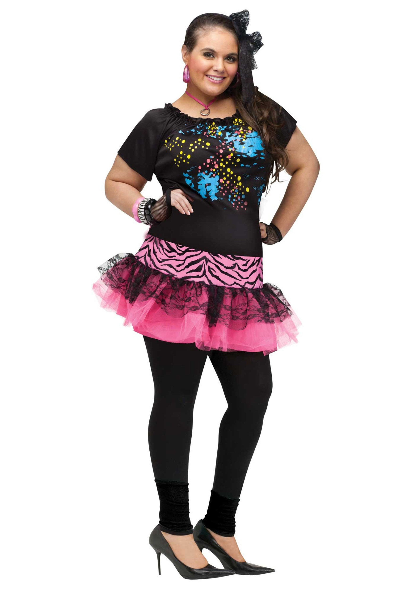 Plus Size 80u0027s Pop Party Costume  sc 1 st  Fun.com : plus size madonna costume  - Germanpascual.Com