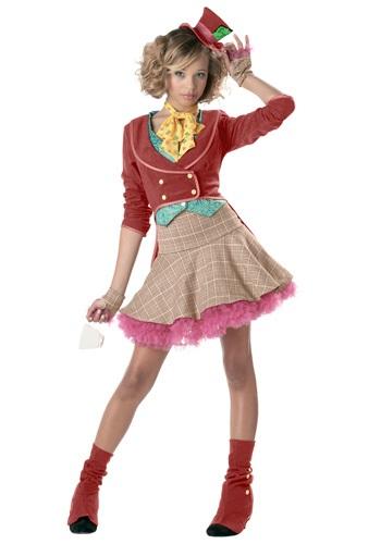 Whimsical Teen Girls Mad Hatter Costume