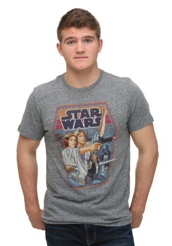 Men's Junk Food Star Wars Steel T-Shirt