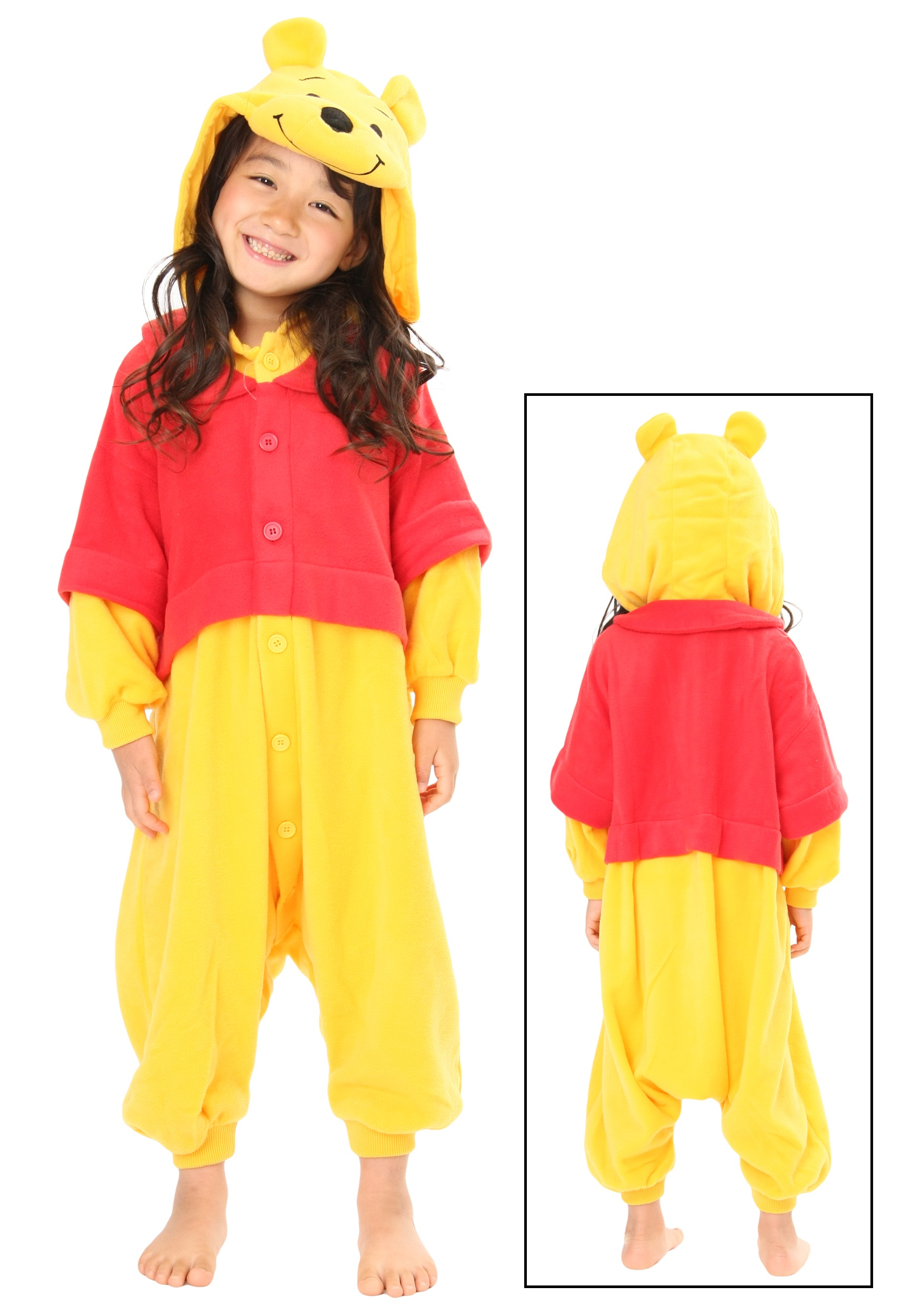 Kids Pooh Pajama Costume SZCRE033