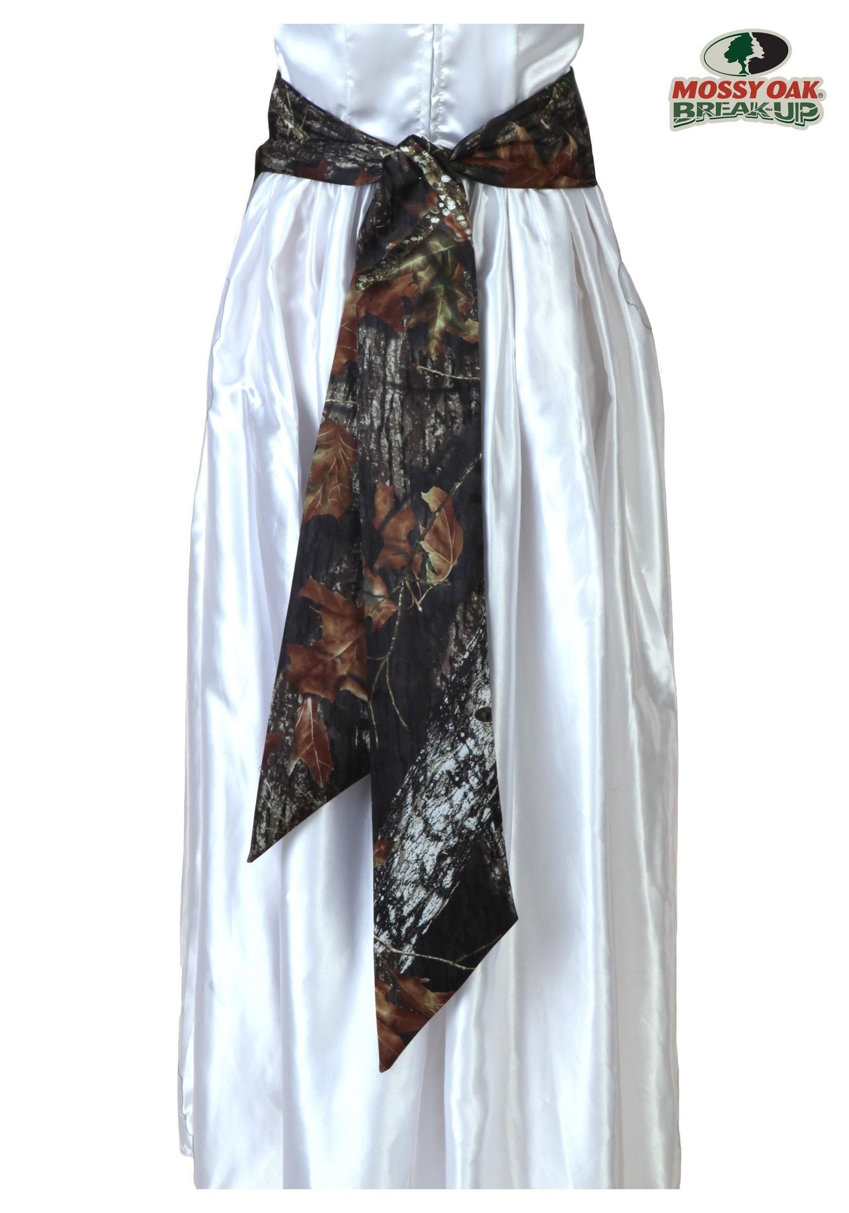 Mossy oak bridal sash for Mossy oak camo wedding dress