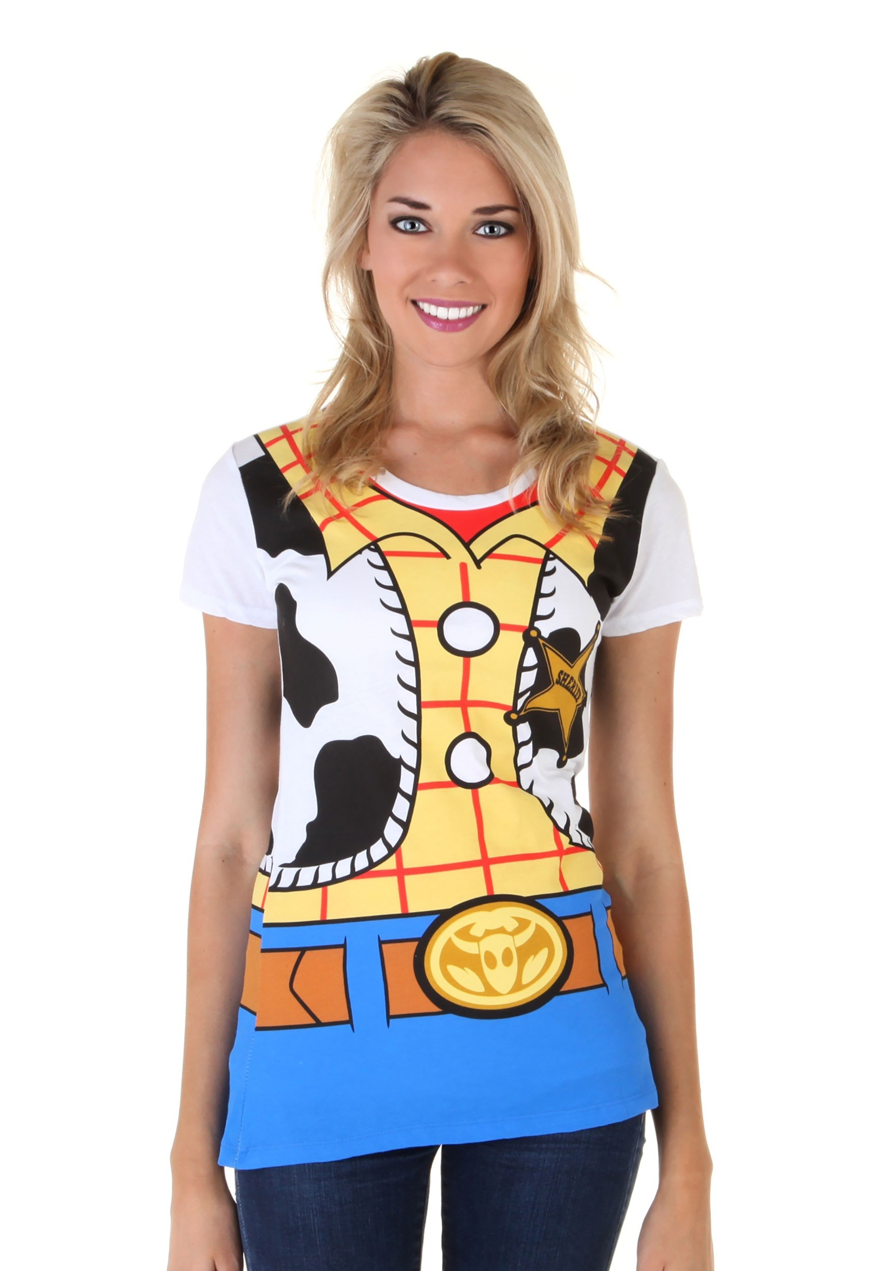 Toy Story I Am Woody Womens Costume Tee MFA4151AAE1