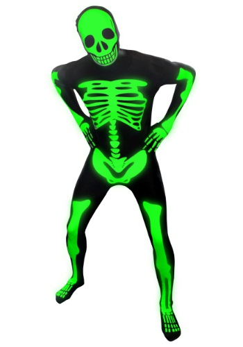 Men's Glow Skeleton Morphsuit