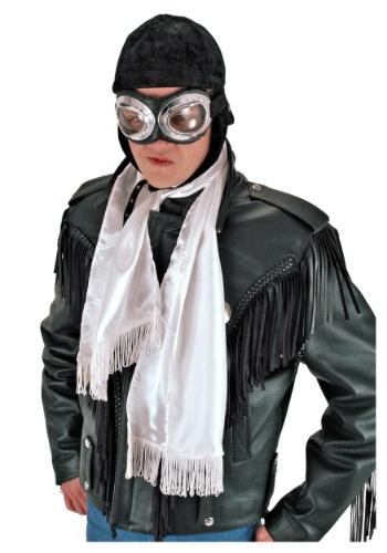 Aviator White Scarf